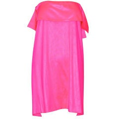Stephen Sprouse Day-Glo Pink Strapless Dress