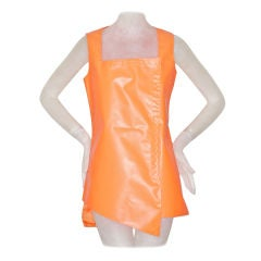 Stephen Sprouse Signed High Visibility Hazard Material Dress