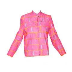 Stephen Sprouse Pink Band Aid Motor Cross Style Jacket