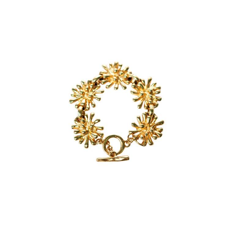 christian lacroix bijoux gold floral motif bracelet at 1stdibs. Black Bedroom Furniture Sets. Home Design Ideas