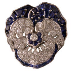 Oscar Heyman Collection Pansy Pin for Shreve, Crump & Low