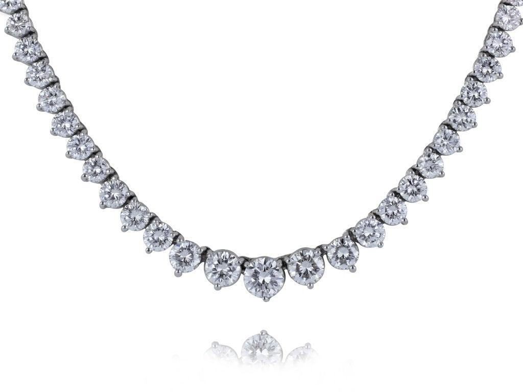 J.E.CALDWELL 22.91ctw Diamond Riviere 2