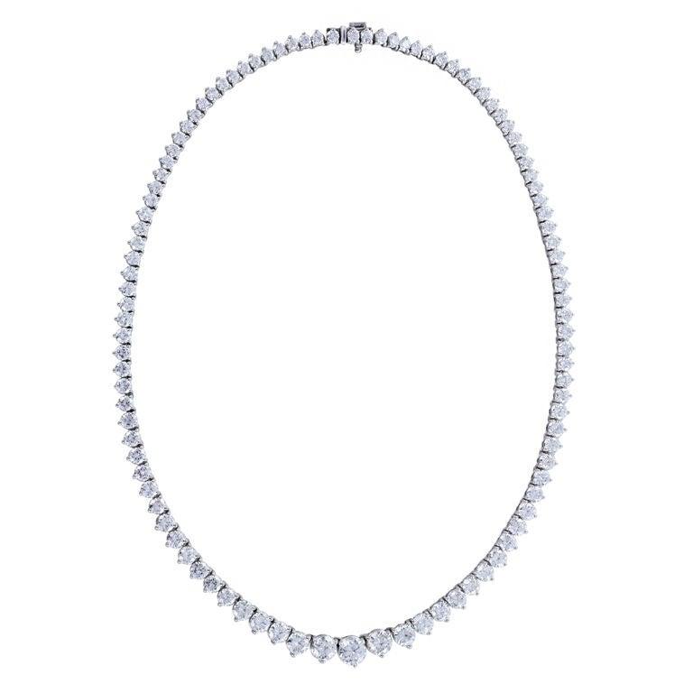 J.E.CALDWELL 22.91ctw Diamond Riviere 1