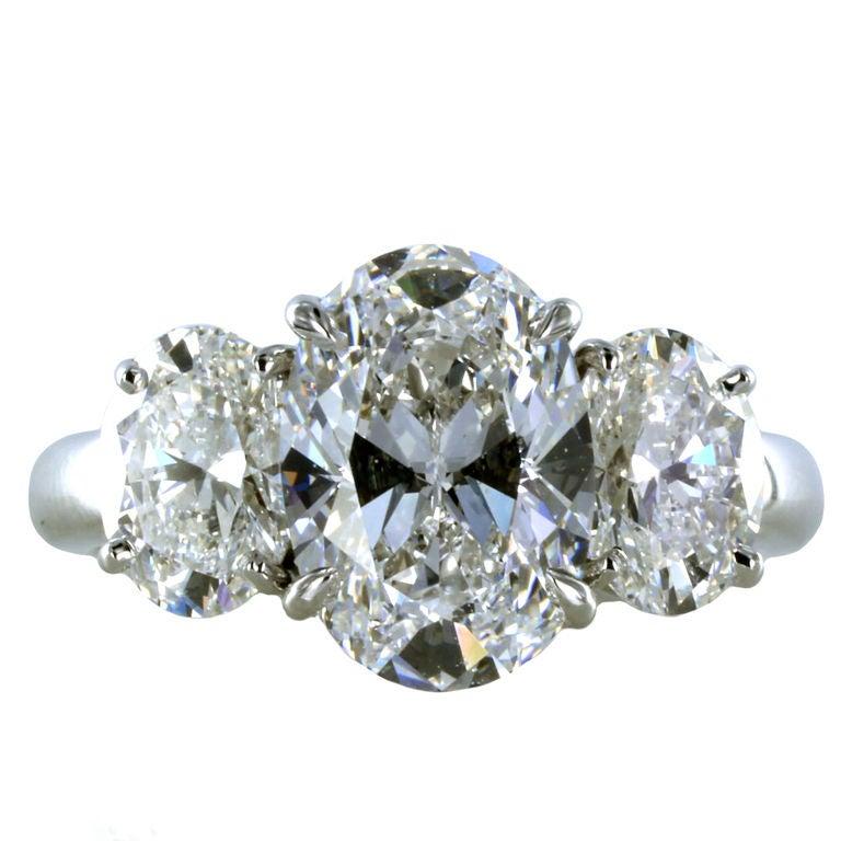 2.33ct D Color Oval Brilliant Diamond Ring 1