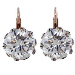 Spectacular 9.22ctw Old European Diamond Earrings