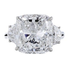 HARRY WINSTON Cushion Cut Diamond Ring GIA 8.80cts F vvs2