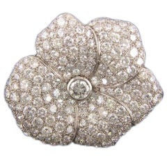 Diamond Flower Pin 8.50cts.