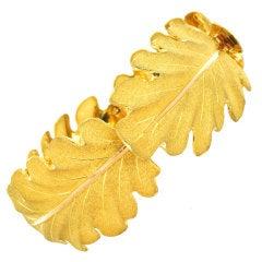 Buccellati Gold Leaf Bracelet
