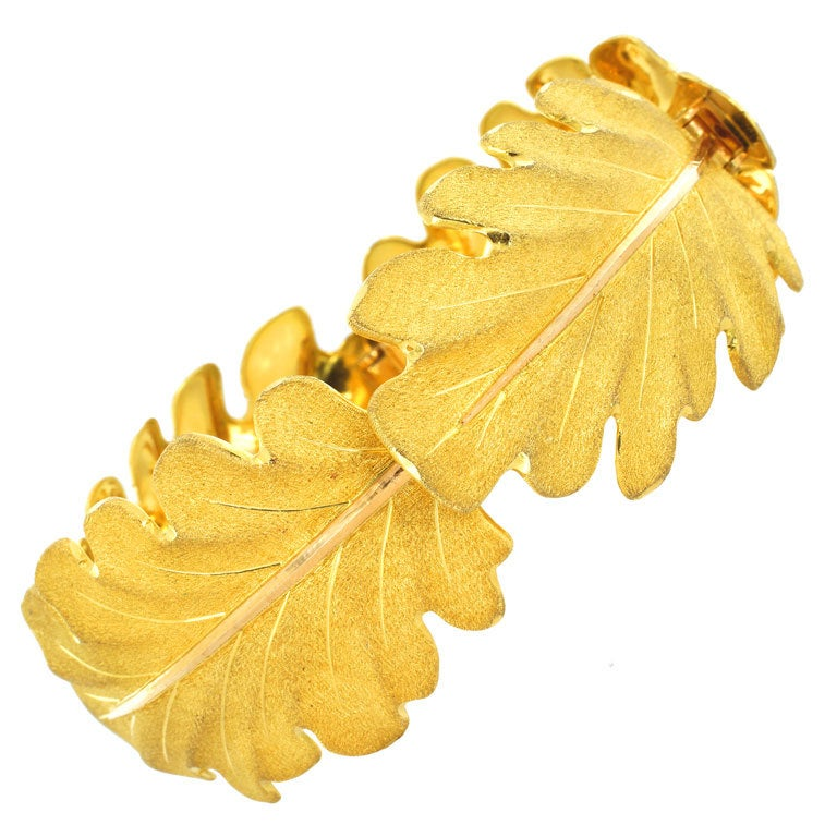 Buccellati Gold Leaf Bracelet For
