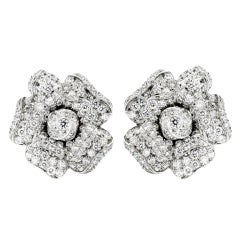 OSCAR HEYMAN  Diamond Flower Earrings
