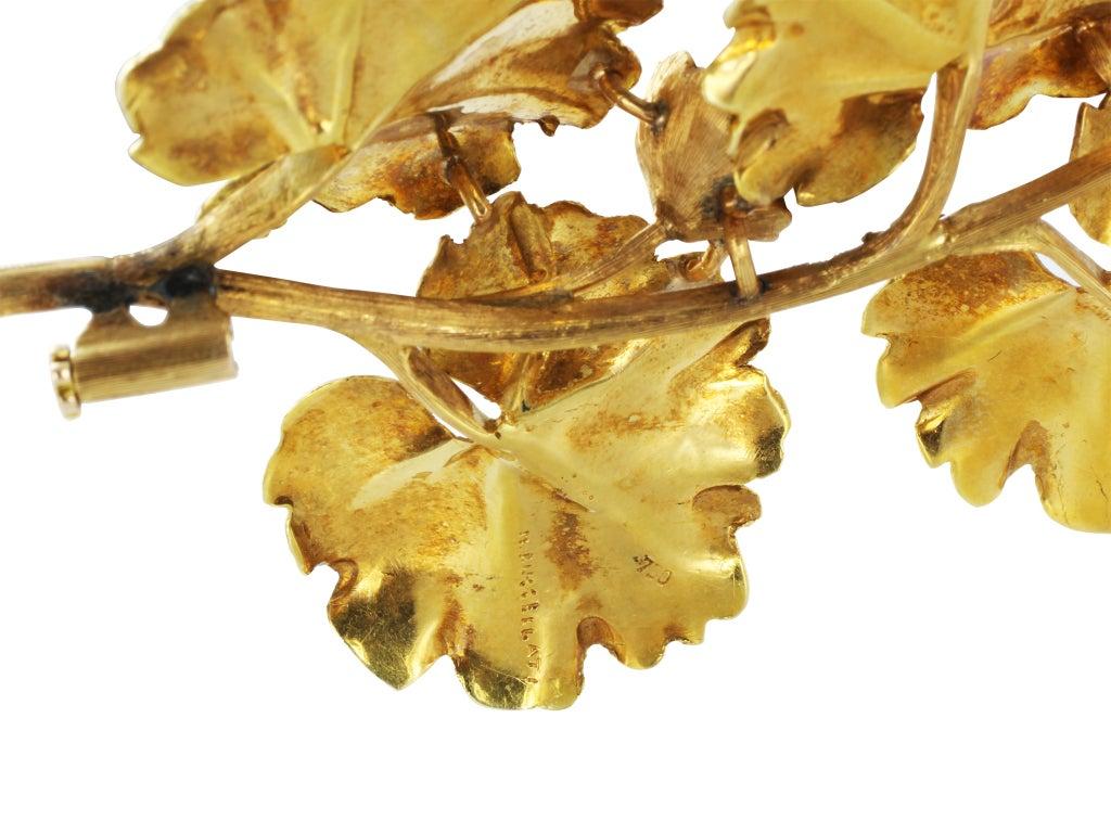 BUCCELLATI Pearl Gold Leaf Pin 3