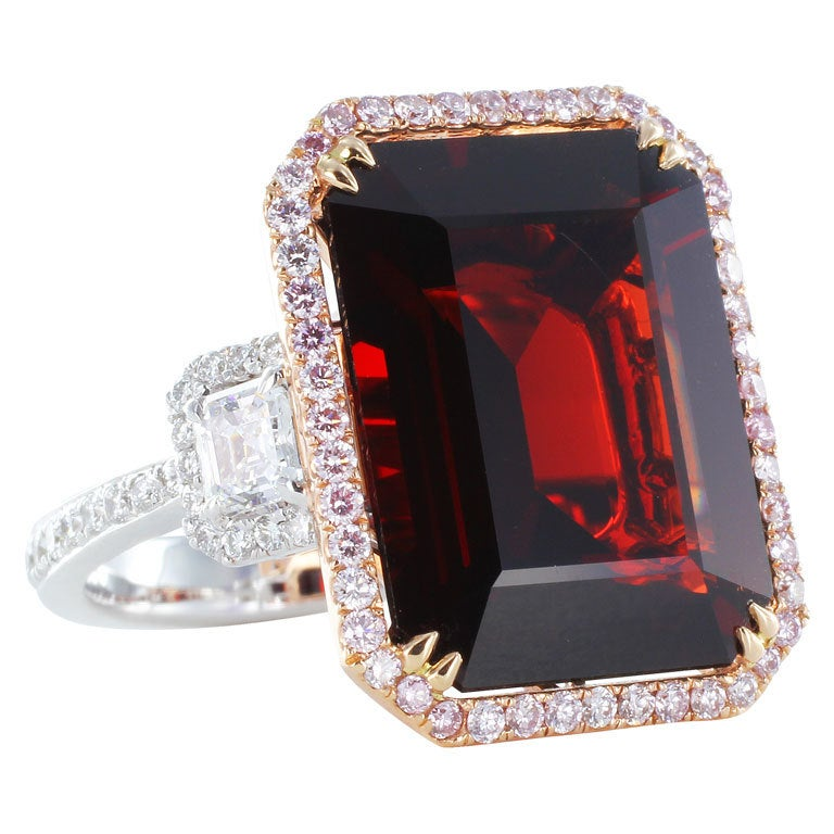 Rare 11 33ct Red Burma Spinel And Diamond Ring At 1stdibs