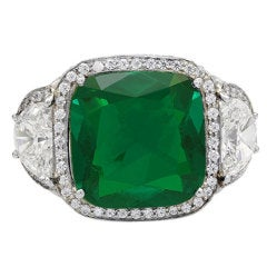 7.14ct Colombian Emerald Ring