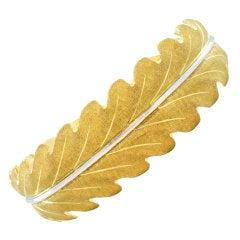 Frederico Buccellati Gold leaf motif Bracelet