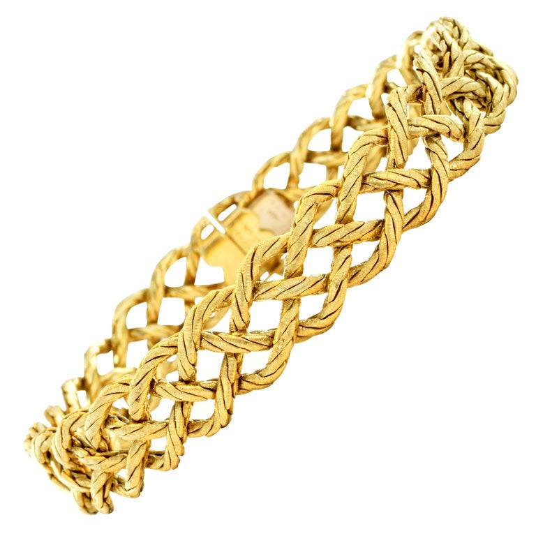BUCCELLATI Gold Bracelet For Sale