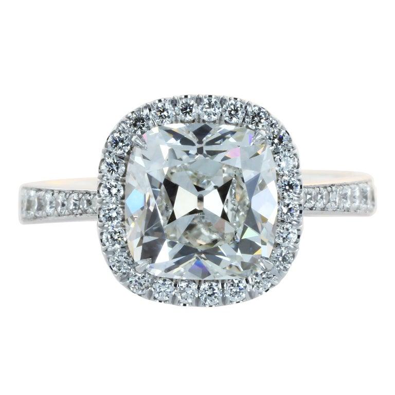 2 49ct Cushion Cut Diamond Engagement Ring at 1stdibs