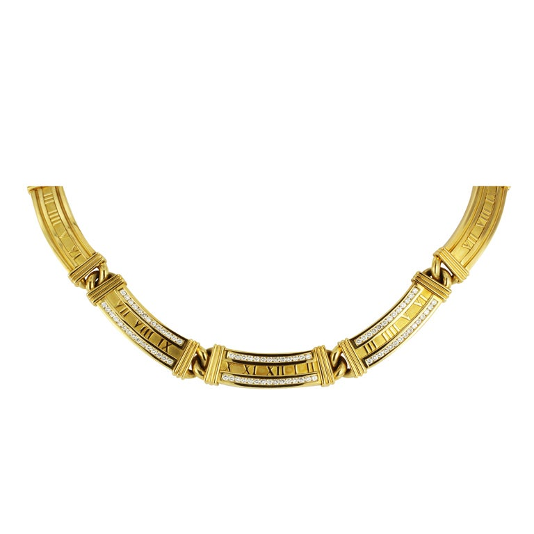 and co gold and atlas necklace at 1stdibs
