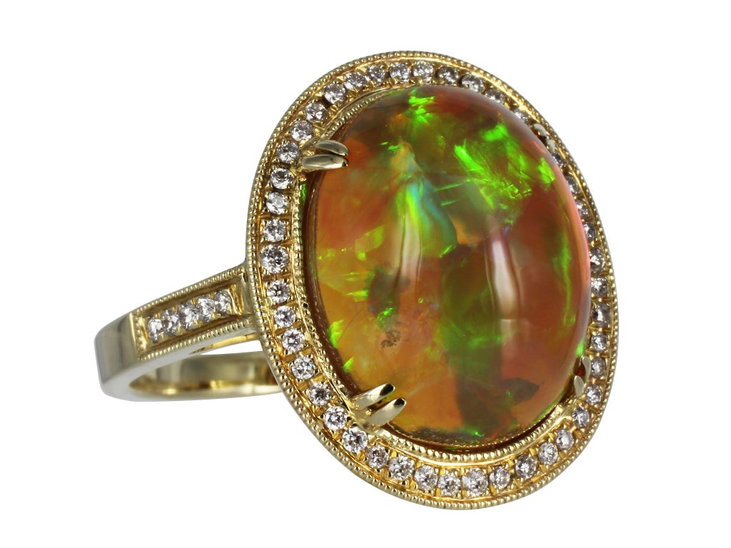 mexican jelly opal and ring at 1stdibs