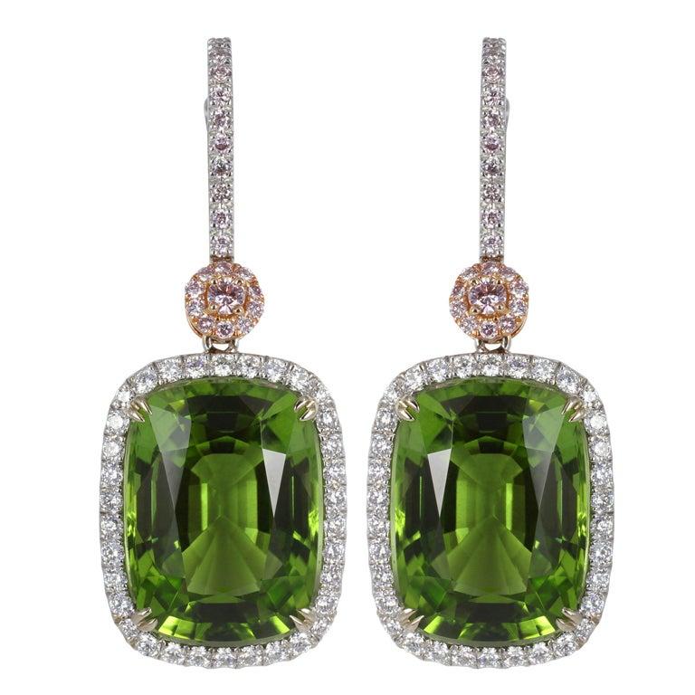 Peridot and Pink Diamond Drop - 76.2KB