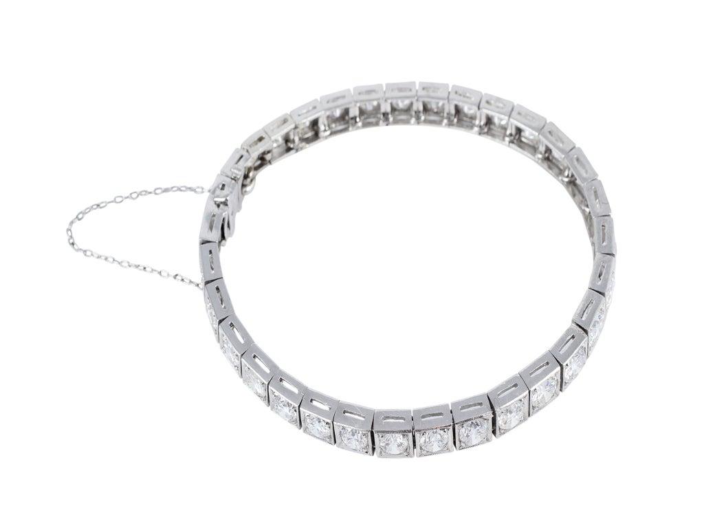 classic 10ctw diamond line bracelet at 1stdibs
