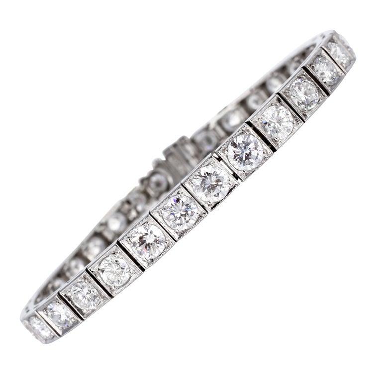 10.00 Carat Diamond Bracelet Platinum