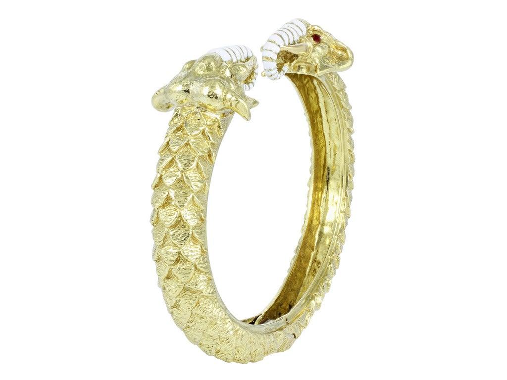 david webb elephant bangle bracelet at 1stdibs