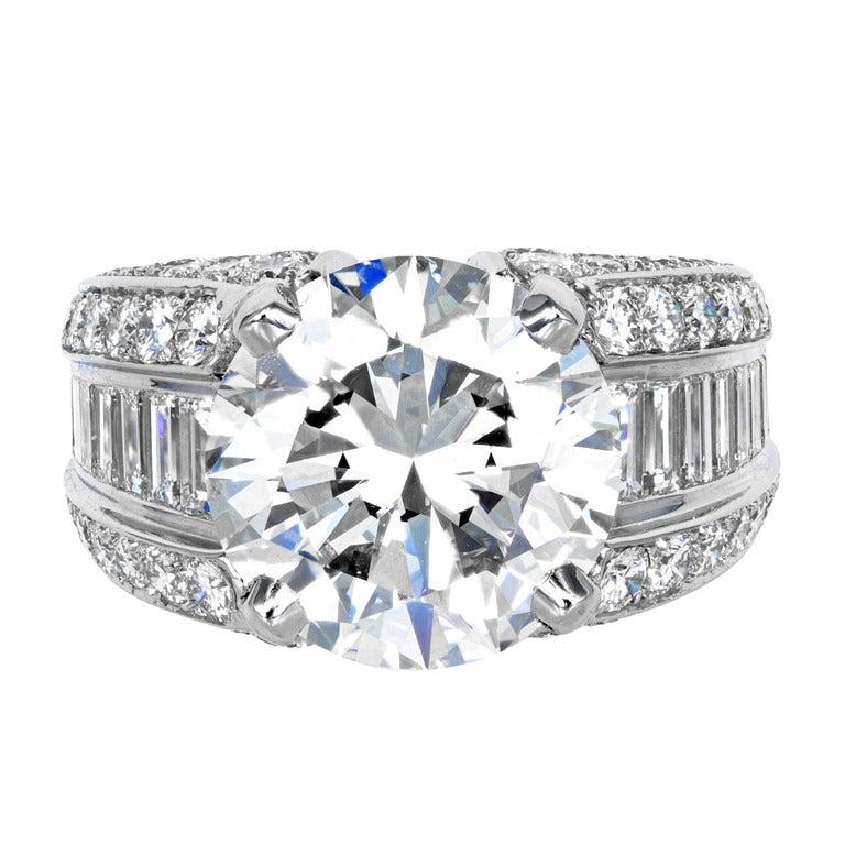 Cartier Diamond Engagement Ring at 1stdibs