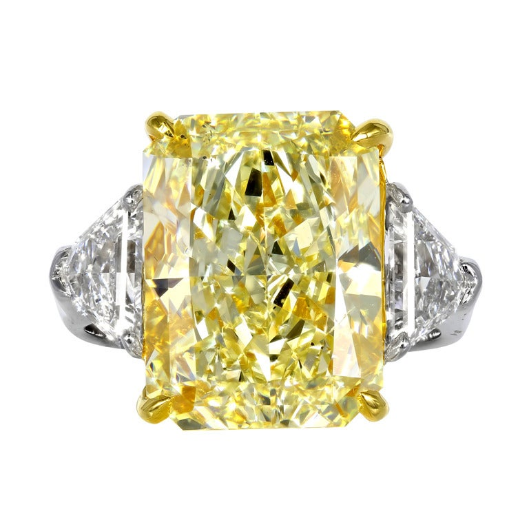 10.03 Carat FY SI1 and GIA Radiant Diamond Engagement Ring