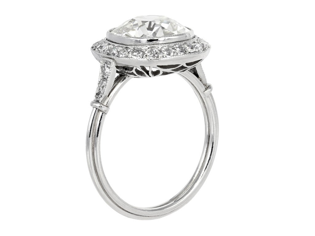 Antique Cushion Cut Diamond Engagement Ring 2