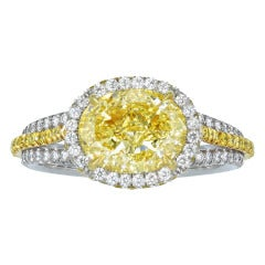 2.31 FY VS1 Diamond Engagement Ring