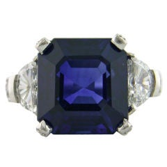SHREVE, CRUMP & LOW Sapphire and Diamond Ring