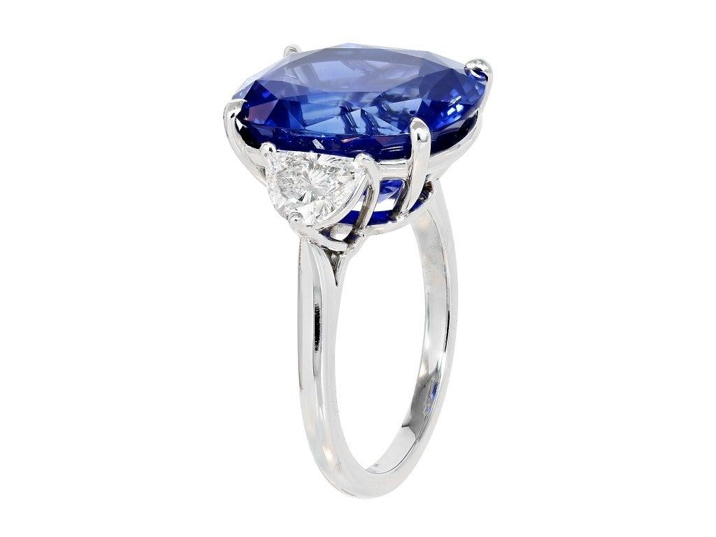 1302 Carat Cushion Cut Sapphire Diamond Ring 2