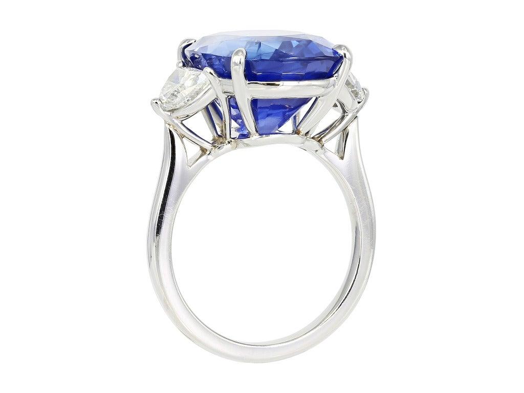 1302 Carat Cushion Cut Sapphire Diamond Ring 3