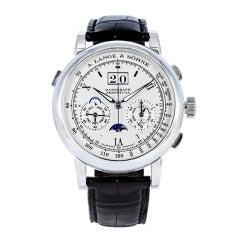 A. Lange & Sohne Platinum Datograph Perpetual Wristwatch