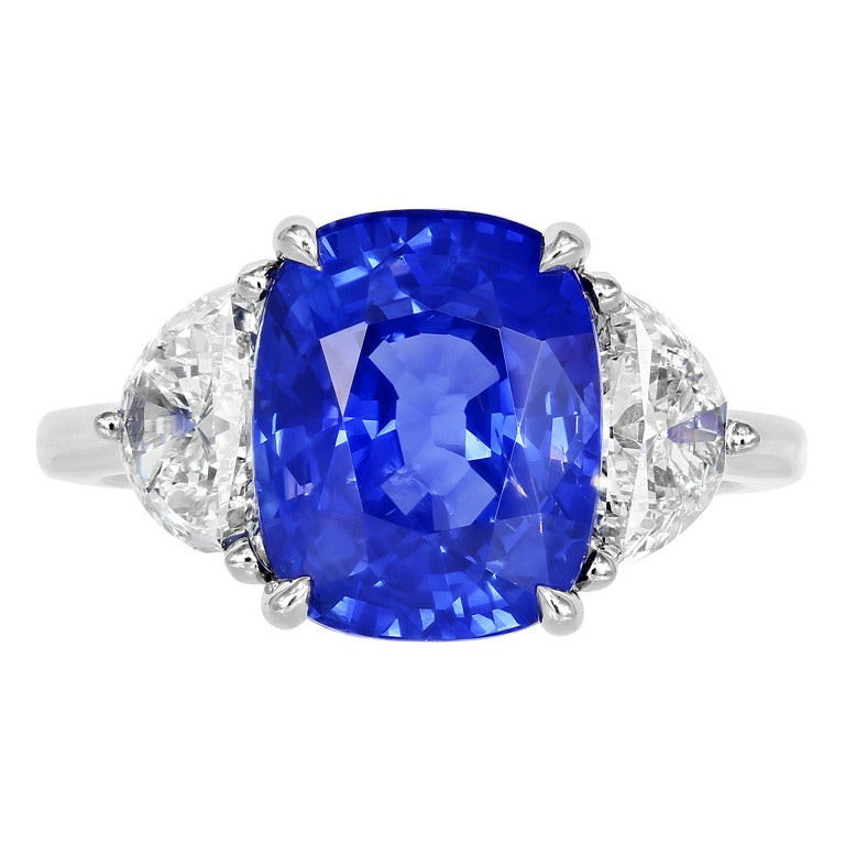 6 15 Carat Sapphire Diamond Ring at 1stdibs