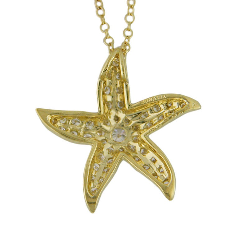 and gold starfish pendant at 1stdibs