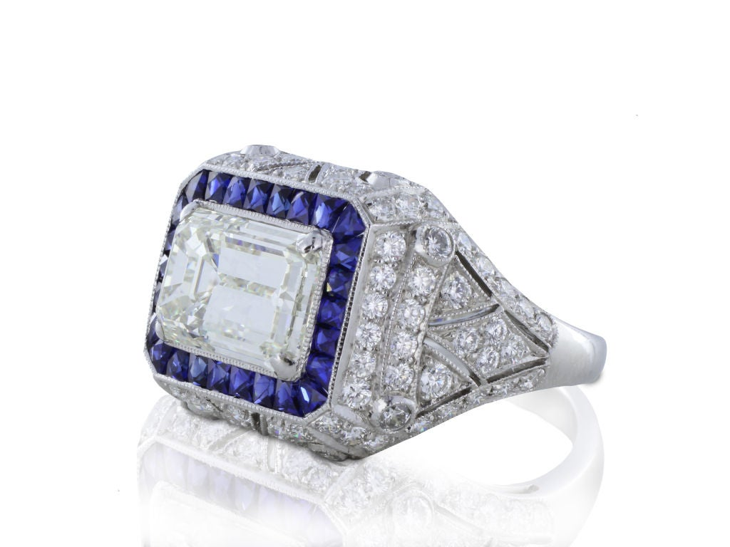 unique 3 39ct and sapphire ring at 1stdibs