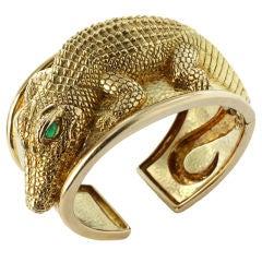 Unique Alligator Cuff Bracelet by DAVID WEBB