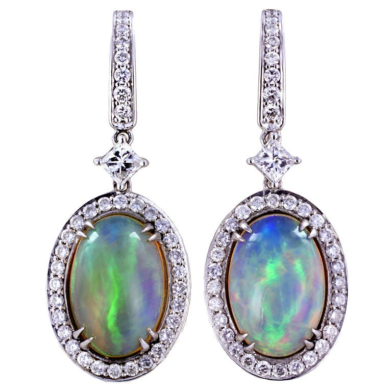 enchanting opal and drop earrings at 1stdibs