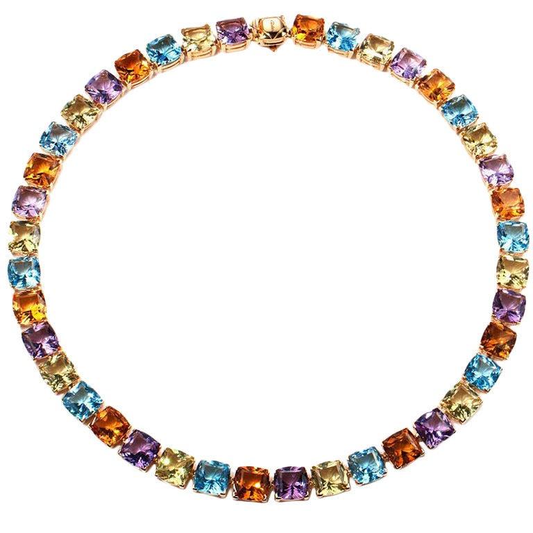 asprey a cut semi precious gemstone necklace at 1stdibs