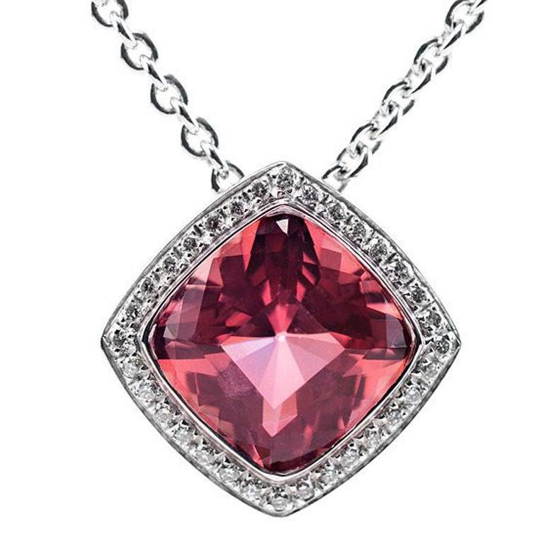 asprey pink tourmaline pendant at 1stdibs