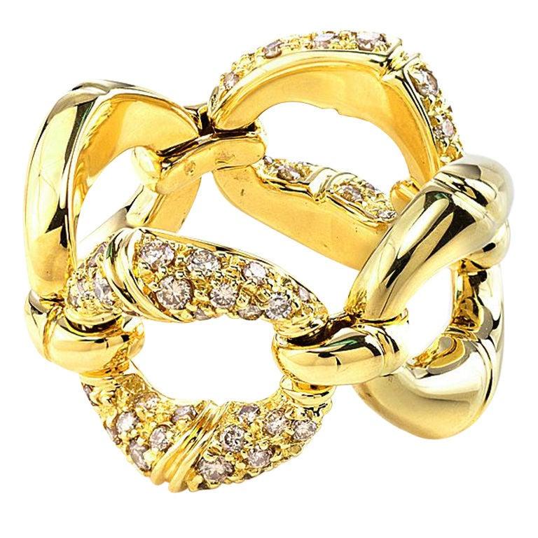 gucci bamboo gold ring at 1stdibs