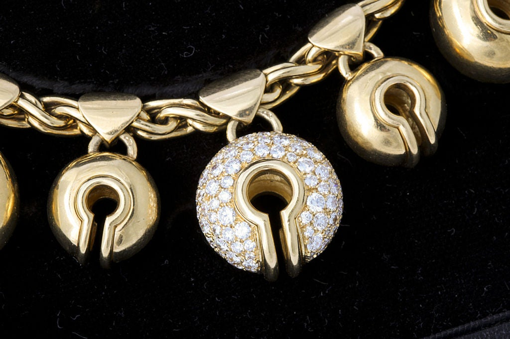 """MARINA B. Gold and Diamond """"Campanelle"""" Necklace and Ear Clips 3"""