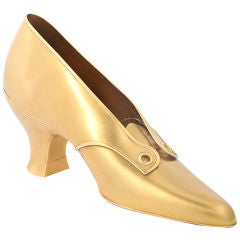 REED & BARTON Highly Detailed Solid Gold Ladies Shoe