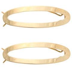 TIFFANY Pair of Gold Barrettes