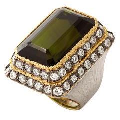MARIO BUCCELLATI Tourmaline and Diamond Ring
