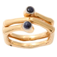 TIFFANY Gold and Sapphire Bamboo Ring