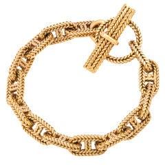 HERMES DUPRE LAFON Gold Bracelet