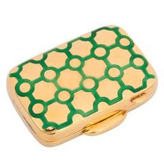 Tiffany & Co. Enameled Gold Pill Box