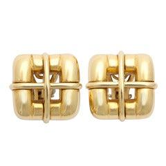 Tiffany Gold Earclips